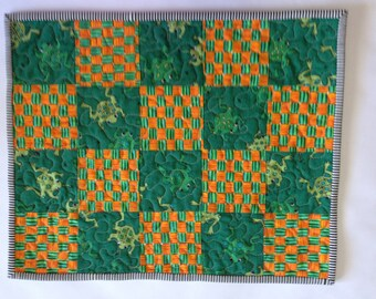 Quilted Kids Placemat / Frogs
