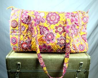 Vintage Vera Bradley Overnight Travel Bag Luggage