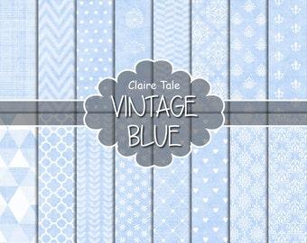 Light blue digital paper, Baby blue scrapbooking paper, Pale blue printable paper, Blue printable invitation background, Baby blue pattern