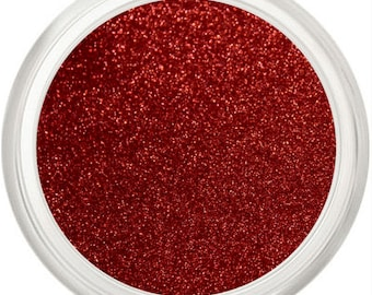 Red Glitter, Microfine, Red Makeup, Glitter Eye Shadow, Glitter Eyeliner, Eyes Lips Face, Sparkle, Shimmer, Glitter Eye Makeup, RED CORVETTE