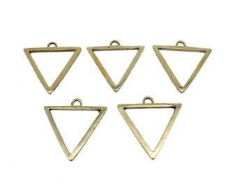 Large Triangle Pendant  Brass Triangle Pendant (S40B26)