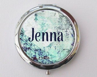 Compact Mirror, Purse Mirror, Stocking Stuffer For Women, Bridesmaid Gift