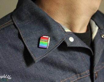 Enamel Pin Gay Pride lgbt pins pride month Gay Agenda