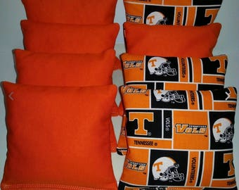Set Of 8 Tennessee Vols Cornhole Bean Bags FREE SHIPPING