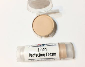 LINEN Perfecting Cream Foundation - Creamy Foundation Concealer Makeup Gluten Free Makeup
