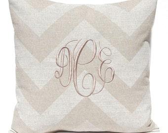 Custom Pillow - Personalized Monogram Pillow - Decorative Pillow Cover - Burlap Decor - Rustic Home Decor - Farmhouse Pillow