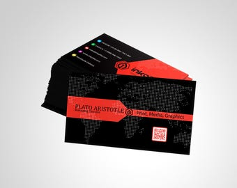 Business Cards (QR Code 1-961 Template)