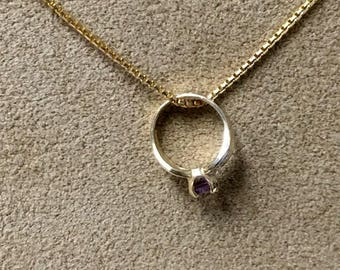 ONE Baby's Birthstone Ring Necklace