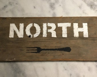 North Fork on reclaimed barn wood
