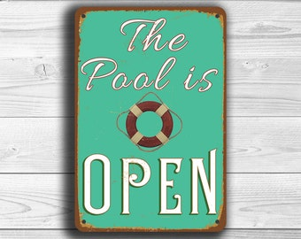 POOL SIGN, Pool Signs, Pool, Swimming Pool, Swimming Pool Signs, Pool is Open, Pool Decor, Swimming Pool Decor, Swimming Pool Art, Pool Sign