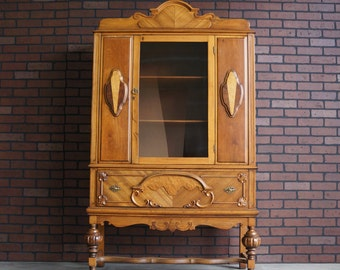 Antique Cabinet / Hutch / China Cabinet  Vintage Cabinet / Linen Cabinet