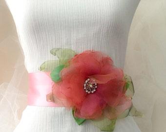 bridal Sash belt, dusky pink sash,  bridal sash, sash belt, pink sash belt,