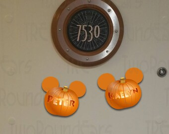 Personalized Mickey Pumpkin Magnets