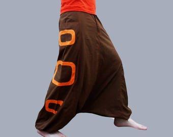 Harem Pants - Aladdin Trousers - Afghani Pants - Alibaba Pants - Rave - Psy - Men - Women - Cotton