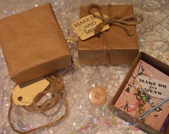 1940's Make Do & Mend Box ~ Wedding favours, Handmade gifts