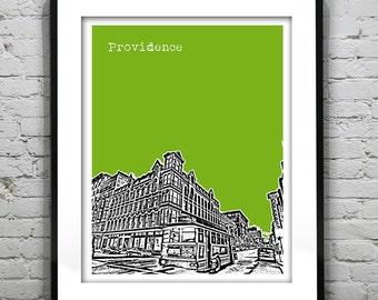 Providence Rhode Island Skyline Poster Art Print Item T1225