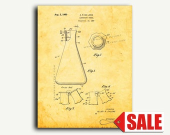 Patent Art - Laboratory Vessel Patent Wall Art Print
