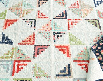 """PreSale - Sweet Escape Quilt Kit by Thimble Blossoms using Smitten by Bonnie & Camille for Moda 80"""" x 80"""" quilt top and binding"""
