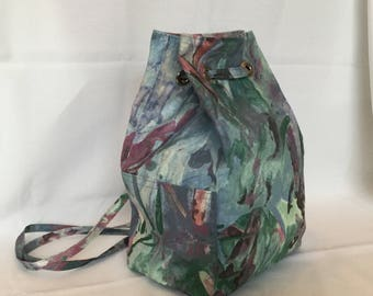 Drawstring Backpack Purse/Shoulder Bag/Tote/Pick Pocket Proof Travel Purse/Hiking Bag/Biking Tote
