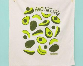 Avocado dish towel, Kitchen Towel, tea towel