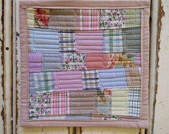 Mini Quilt. Table Mat. Mug Rug. Coaster. HandMade By PriganArt