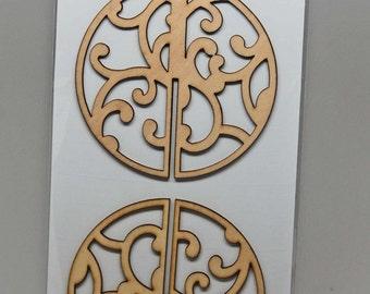 SALE Kaisercraft Wood Flourishes -- 3D Flourish Baubel 1 -- Christmas Ornament