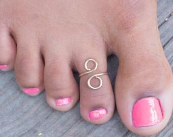 Gold Toe Ring -Adjustable 12kt Gold filled