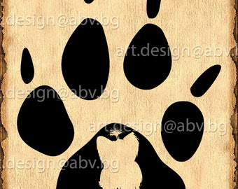 Vector STEP DOG, maltese yorkie, paw, SVG, ai, eps, pdf, png, dxf, jpg Download, Image Graphic Digital Artwork, graphical, animal trails
