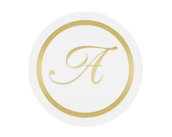Gold Monogram Stickers Envelope Seals (Pack of 25)