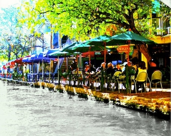 San Antonio Texas River Walk Limited Edition Wall Art Giclee Print