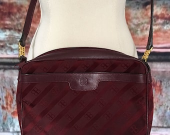 Balenciaga Burgundy Logo Purse