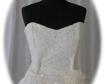 Wedding Gown NEW Light Ivory UK dress size 14