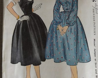 Jumper or Skirt and Blouse in Size 16 Complete 1950s Vintage McCall's Sewing Pattern 9945 All 20 Pieces