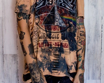 Pink Floyd - Distressed shirt - Custom band shirt - Rock and Roll - Reworked band tee - Distressed - Shredded Dreams - Large