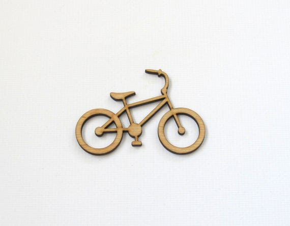 Bicycle Laser Cut Out Unfinished Wood Shape Craft Supply