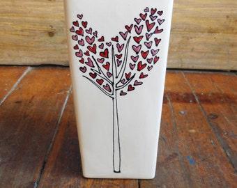 Personalised Heart Tree Wedding Vase