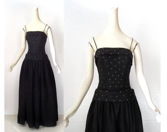 Vintage 1950s Gown | Fred Perlberg | 50s Taffeta Dress | XXS