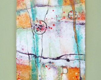 Original Abstract Encaustic Painting - Textured Abstract Painting - Encaustic Art - KLynnsArt