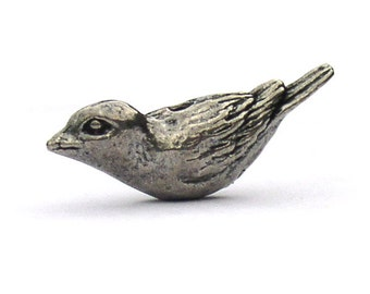 Sparrow Pewter Beads Green Girl Studios