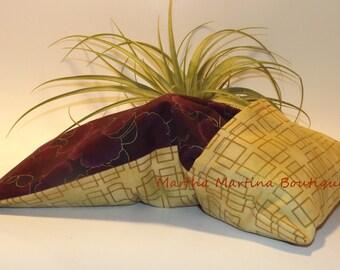 Ahhh-Maize-ing Corn Comfort Sak Multi Size Wrap 'Purple Ginko', Purple, Gold, Microwave Corn Bag