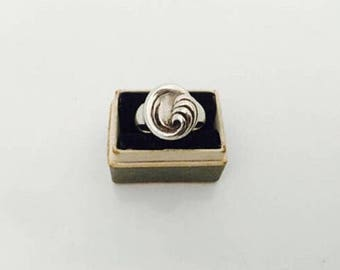 Modernist Solid Silver Ring.