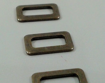 50 Pcs Antique Bronze 6x10 mm Rectangular Findings
