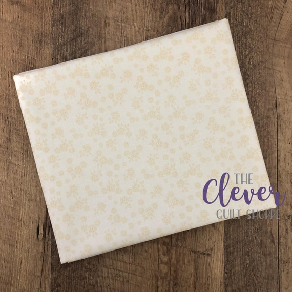 Quilting Fabric, Calico, Cream, Tone on Tone, Basics, Riley Blake Designs, Backing, Background, Small Print, Cream on Cream, Neutral, Basics