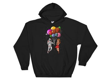 Outer Space Pullover Art Hoodie - Cool Nature Pattern Sweatshirts - EDM Clothes - Gifts for Him or Her 8e2Oo1q9qZ