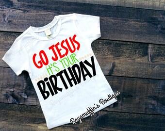 Christmas Shirt, Jesus birthday shirt, holiday shirt, boys Christmas shirt, Holiday shirt, trendy boys shirt, toddler christmas shirt