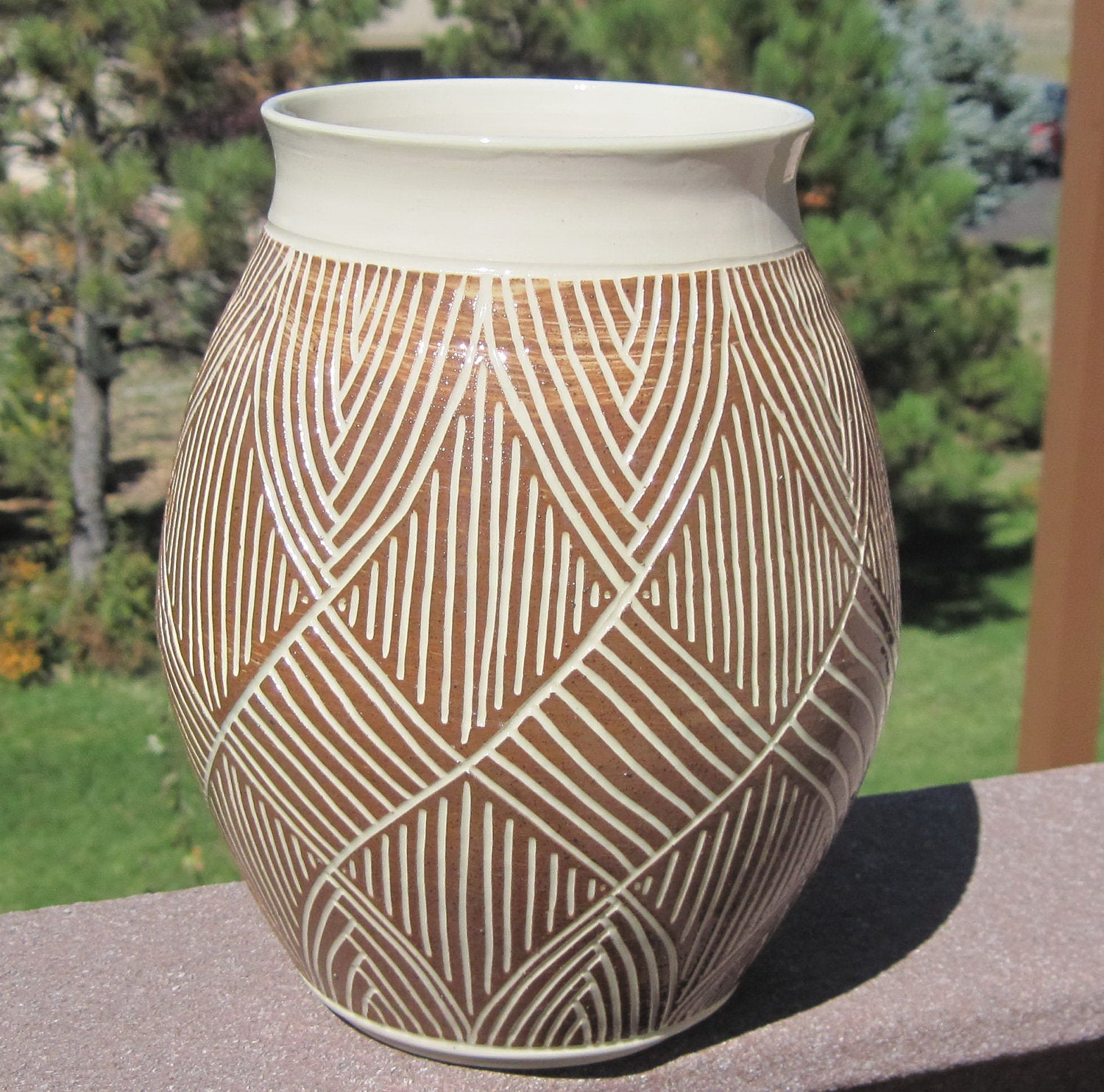 Beautiful hand carved pottery vase visit shop for more zoom reviewsmspy