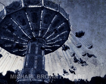 Carnival Ride PRINT #613 from photo by Michael Brown