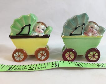 Vintage Baby Buggy Salt and Pepper Shakers