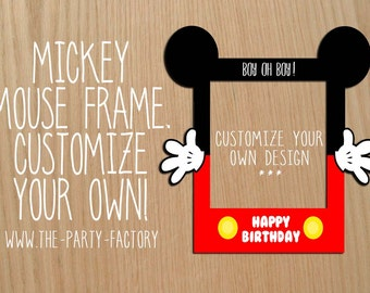 Mickey Mouse Photo Booth Frame, Custom Design (Digital File) , Instant Download