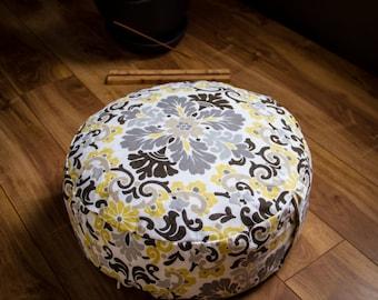 Meditation cushion Pouf zafu Winter Mandala organic Buckwheat pillow yoga equipment handmade by Creations Mariposa